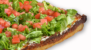cloverleaf menu item - blt pizza