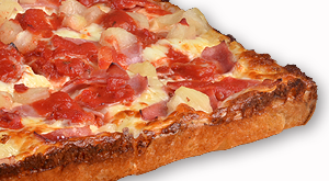cloverleaf menu item - hawaiian pizza