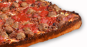 cloverleaf menu item - meat lovers pizza