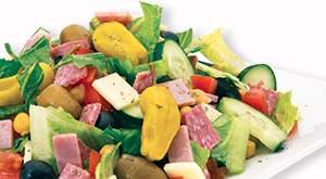 cloverleaf menu item - antipasto salad