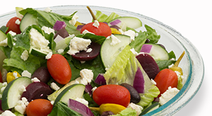 cloverleaf menu item - greek salad