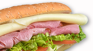cloverleaf menu item - ham and cheese sub