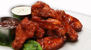 cloverleaf menu item - bbq chicken wings