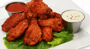 cloverleaf menu item - hot chicken wings