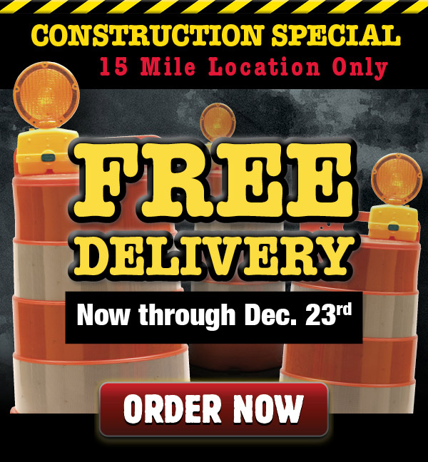 free delivery during construction at 15 mile location
