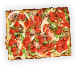 cloverleaf menu item - gluten free pizza